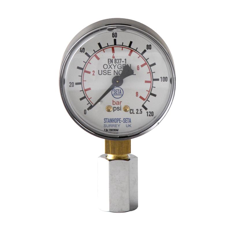 Oxygen Gauge 0 to 8.3 bar - 16440-0'