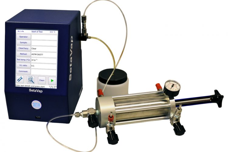 12870: Crude Oil Vapour Pressure Testing with the SetaVap4 and Manual Piston Cylinder